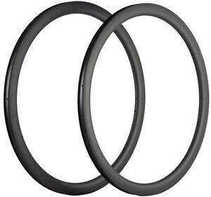 40mm Depth Carbon Rim 18/20/21/24/28/32 Hole Track/Road Bike Carbon Rims 700C