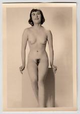#687 RÖSSLER AKTFOTO / NUDE WOMAN STUDY * Vintage 1950s Studio Photo - no PC !
