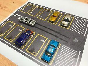 1:64, 1:43 Diecast diorama, photobox, parking