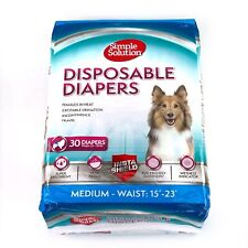 Simple Solution Disposable Dog Diapers Female Dogs Super Absorbent - Medium - 30