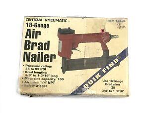Central Pneumatic Item 42528 18 Gauge Air Brad Nailer