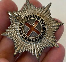 More details for ww1 british military cap badge, coldstream guards warrant officer's silver