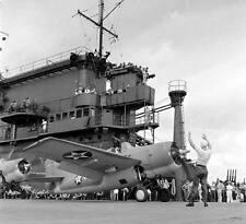 WW2  Photo WWII USS Enterprise CV-6 F4F Fighter On Deck World War Two Navy /5235