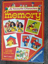 Vintage My Favourite Characters Memory Game Ravensburger Pat Noddy Rosie Jim Tot