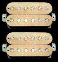 Guitar Parts GUITARHEADS PICKUPS LUMBERBUCKER HUMBUCKER Wood Top - SET 2 - MAPLE