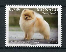 Monaco 2018 MNH Intl Dog Show Canine Expo Zwergspitz Pomerian 1v Set Dogs Stamps