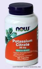 1 Bottle Now Foods Potassium Citrate 99mg 180 Capsules