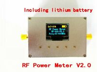 1-500Mhz OLED RF Power Meter -75~15dBm Power Set RF Attenuation Value +battery
