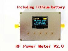 1-500Mhz OLED RF Power Meter -75~15dBm Power Set RF Attenuation Value +battery