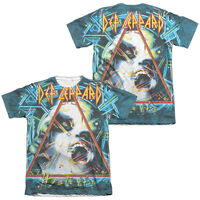 Def Leppard HYSTERIA 2-Sided Sublimated All Over Print Poly Cotton T-Shirt