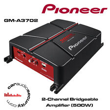 Pioneer GM-A3702 - 2-Channel Bridgeable Amplifier 1000W Speakers Or Sub Amp New