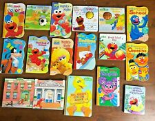 Lot 17 SESAME STREET Board books Grover First Color Shapes Neighborhood Elmo