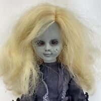 OOAK Vintage Doll Creepy Haunted Horror Girl Halloween Decor Spooky Prop Zombie