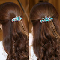 New Fashion Women Girl Crystal Flower Rhinestone Hair Pins Hairpin Clip Barrette
