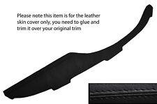 BLACK STITCH TOP DASH DASHBOARD LEATHER SKIN COVER FITS PORSCHE 911 912 65-67