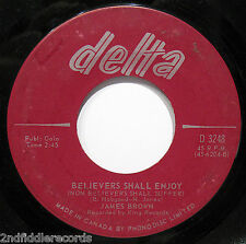 JAMES BROWN-Tit For Tat & Believers Shall Enjoy-Rare Canadian 45-DELTA #3248