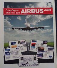 AIRBUS A380, Sammlung von 29 versch. echt geflogenen Briefen. ABO-Preis 420,- €