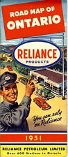 1951 Reliance Road Map: Ontario NOS