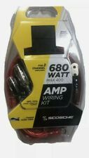New~Scosche 680 Watt Amp Wiring Kit For 2 Channel Amp/Kpa8Ccsd Heavy Gauge Wire