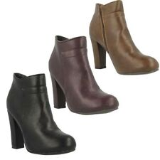 Zip Slim Heel Synthetic Boots for Women