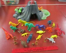 Post 1978 Marx Dinosaurs & Winneco with DFC cavemen and Playmobil Mountain