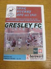 2009/2010 largo Buckby V Gresley [FA Florero] (arrugada). gracias por ver este ITE