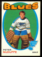 1971 72 OPC O PEE CHEE HOCKEY #225 PETER MCDUFFE NM RC ST LOUIS BLUES CARD