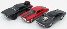 Dodge Set 3X Dom'S Dodge Charger Chevy Chevelle Fast & Furious 1:55 JADA1428W1-2
