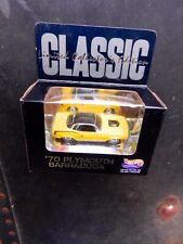 """HOT WHEELS YELLOW 1970 PLYMOUTH BARRACUDA """"HILLS"""" LIMITED EDITION W/REAL RIDERS"""