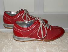 "HUSH PUPPIES ""AIR"" TRENDY RED OXFORD LACE UP ORTHOTIC COMFORT WALKING SHOES~ 7W"