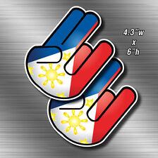 2x Filipino Shocker Sticker Die Cut Decals Pilipinas Vinyl philippines