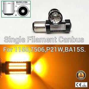 Rear Signal Light 1156 BA15S 7506 3497 P21W 108 SMD Amber LED Bulb M1 M