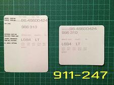 Porsche Boxster Style 2 VIN Data Bonnet Hood Maintenance Book Labels Stickers...