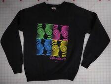 Rolling Stones Steel Wheels 1989 Large Long Sleeve Black Sweat Shirt Vintage