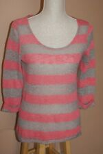 Next Pink and Grey Stripe Jumper Size 14