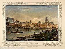 Frankfurt am Main 1868 - handkolorierte Reproduktion im Lichtdruck - Herchenhein
