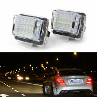 2 Canbus Error Free LED License Plate Lights For Mercedes Pre-LCI W204 W212 W221