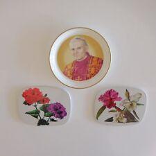 Lot de 3 sous-bocks sous-verres Pape Jean-Paul II 1982 art-déco art nouveau