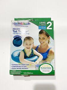 Swim School Aqua Tot Trainer Vest Tube Children Toddlers Kids Swimming Pool Blue