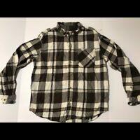 woolrich plaid button down shirt men's L %100 cotton