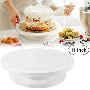 11'' Rotating Revolving Plate DIY Cake Decor Turntable Display Stand Baking Tool