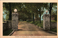 Vintage Postcard Woodstock general Hospital Entrance Ontario Canada *Free Ship*