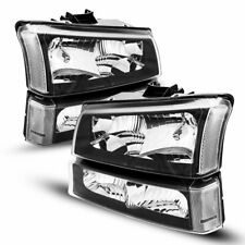 Headlightlamps For 03 06 Chevy Silveradoavalanche Bumper Clear Corner Black Fits 2004 Avalanche 1500