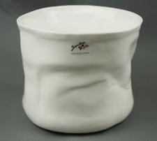 SANDRA RICH VASE EN PORCELAINE 'DESIGN M' cache-pot,env. 18 cm Ø,blanc BC 98915