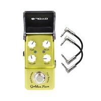 Joyo JF-308 Golden Face Amp Sim Ironman Mini Guitar Effects Pedal + Patch Cables