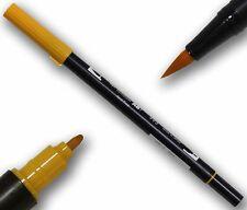 TOMBOW ABT Chrome Arancione Double Brush Pen artisti penna 2 punte tätowierer