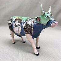 Cow Parade Fun Seekers 9199 Westland 2001 Giftware Ceramic Bovine Sun Bathing