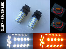 Type 2, 3157 3757 3457 4057 3047 3357 dual color 39/39 led light bulb + Resistor