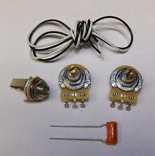 Precision P Bass Guitar Wiring Kit CTS 500K Pots Orange Drop .047uf Capacitor