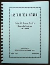 Setchell Carlson Model 524 BC-1206 Beacon Receiver Manual